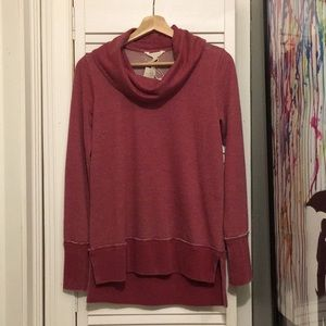 Red Long Sleeve Hi Low Tee